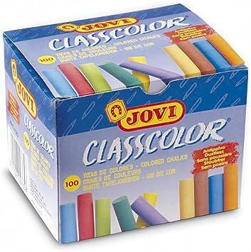 Jovi Classcolor 152692 - Pack de 100 tizas, multicolor: Amazon.es: Oficina y papelería