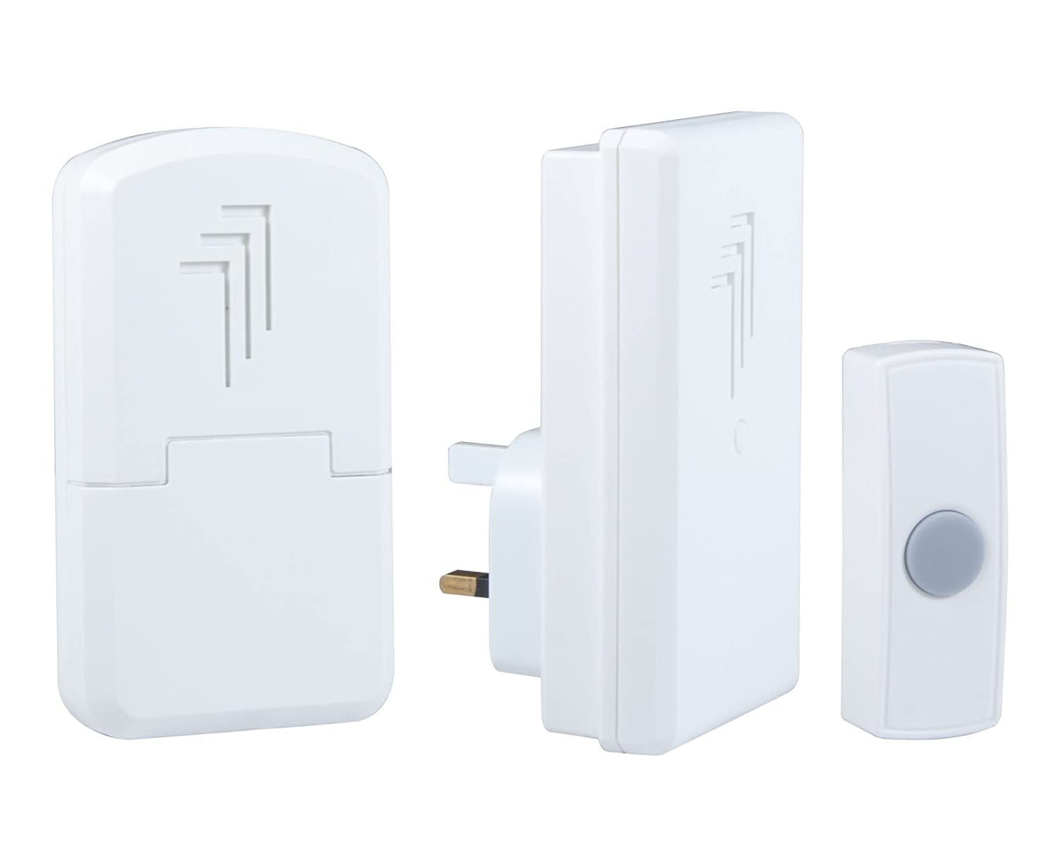 Elro Wireless Chime.Elro Db312eu Plug In Wireless Door Chime Kit Amazon Co Uk