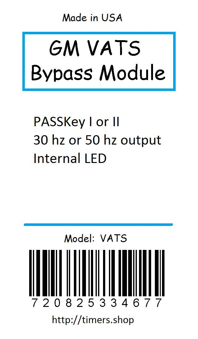 Timers Shop GM VATS PASSkey II Bypass Module for LS1 and LT1 Painless