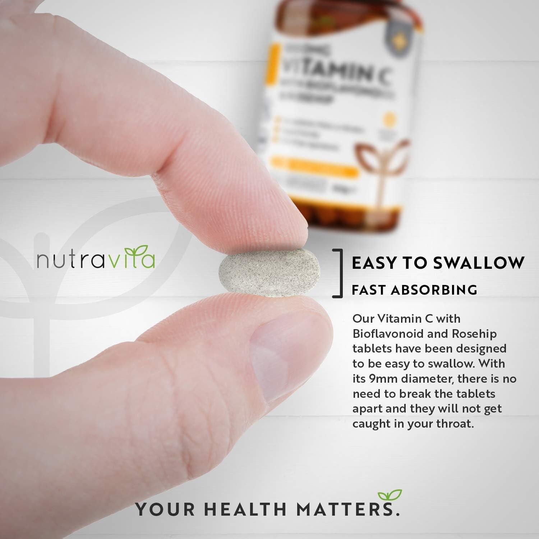 Vitamina C de 1000 mg con Bioflavonoides y Rosa Mosqueta en oferta