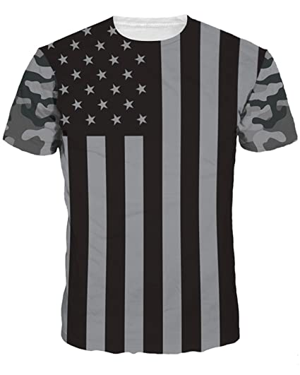 261e8279b Unisex 3D Creative Print Graphic Tee Short Sleeve T-Shirt | Amazon.com