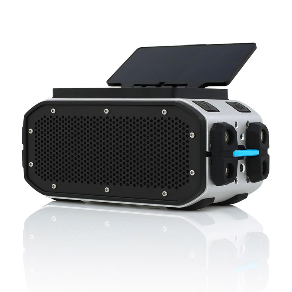 Braven BRV-PRO+SOLAR Bluetooth Speaker (Speaker/Solar Panel) - Silver/Black by Braven