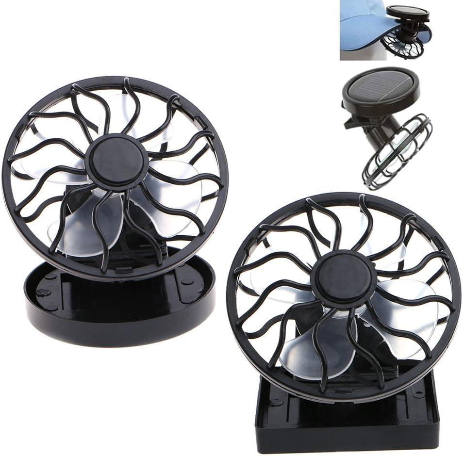 Manyo Mini portátil ventilador clip-on Panel Solar Alimentado ...