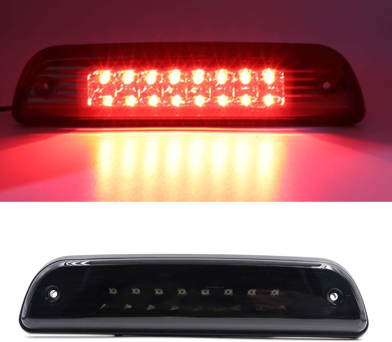 3rd Third Brake Light High Mount Stop Light LED Rear Tail Light For 1995-2015 Toyota Tacoma Chrome Housing Smoke Lens LED Brake Lamp