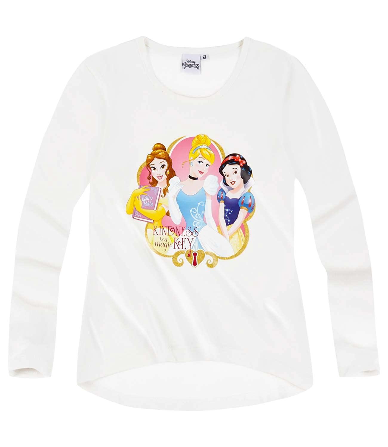 Disney Princess Girls Long Sleeve T-Shirt 2016 Collection - White