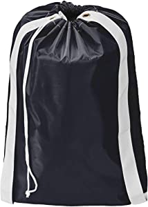 HOMEST Laundry Bag with Shoulder Straps, Machine Washable Nylon Large Dirty Clothes Organizer for Camp, Fits Laundry Hamper or Basket, Can Carry Up to 3 Loads of Laundry, Black