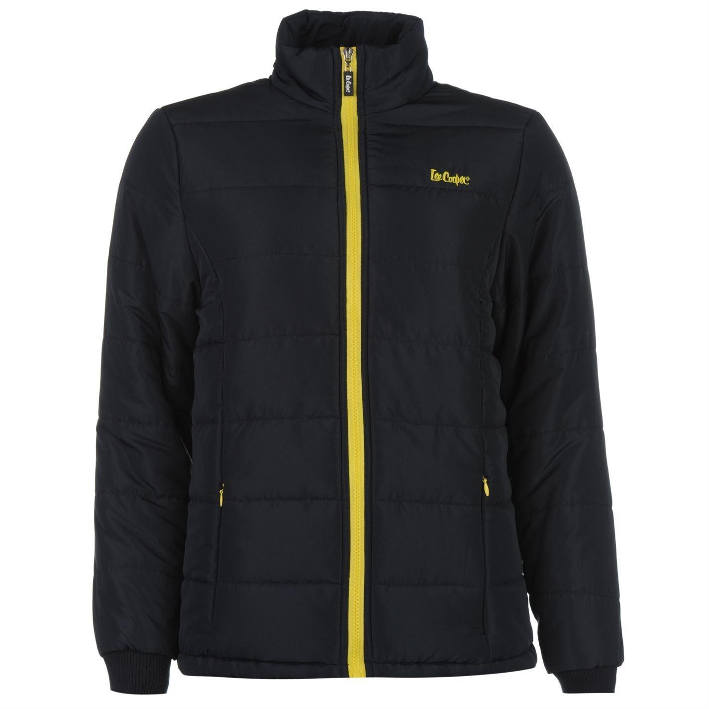 Lee Cooper acolchado chaqueta para mujer azul marino/amarillo chaquetas y abrigos de ropa abrigo, Na...