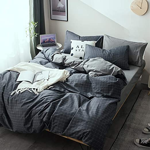 Juego de ropa de cama Puchika 240 x 220 cm, algodón, a cuadros ...