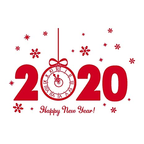 Home For The Holidays 2020.Amazon Com Fullyday Happy New Year Window Sticker 2020
