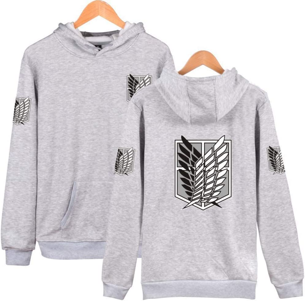 MR.YATCLS Attack On Titan Hoodie Hooded Sweatshirt Long Sleeve Pullover Suitable for Men and Women