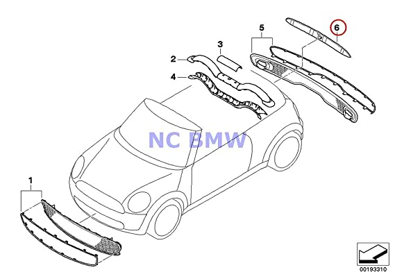 Amazon Com Bmw Mini Genuine Trunk Lid Handle With Lamp Unit Hatch