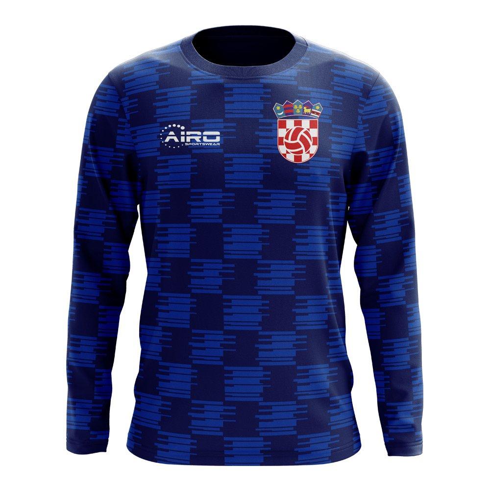 Airo Sportswear 2018-2019 Croatia Long Sleeve Away Concept Football Soccer T-Shirt Trikot