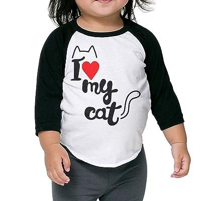 SH-rong I Love My Cat Toddler Round Collar Tshirt