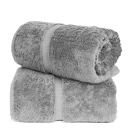 Turkuoise Turkish Towel % 100 Turkish Cotton Luxury and Super Soft Bath Sheets, 35×70 Inches (Gray)