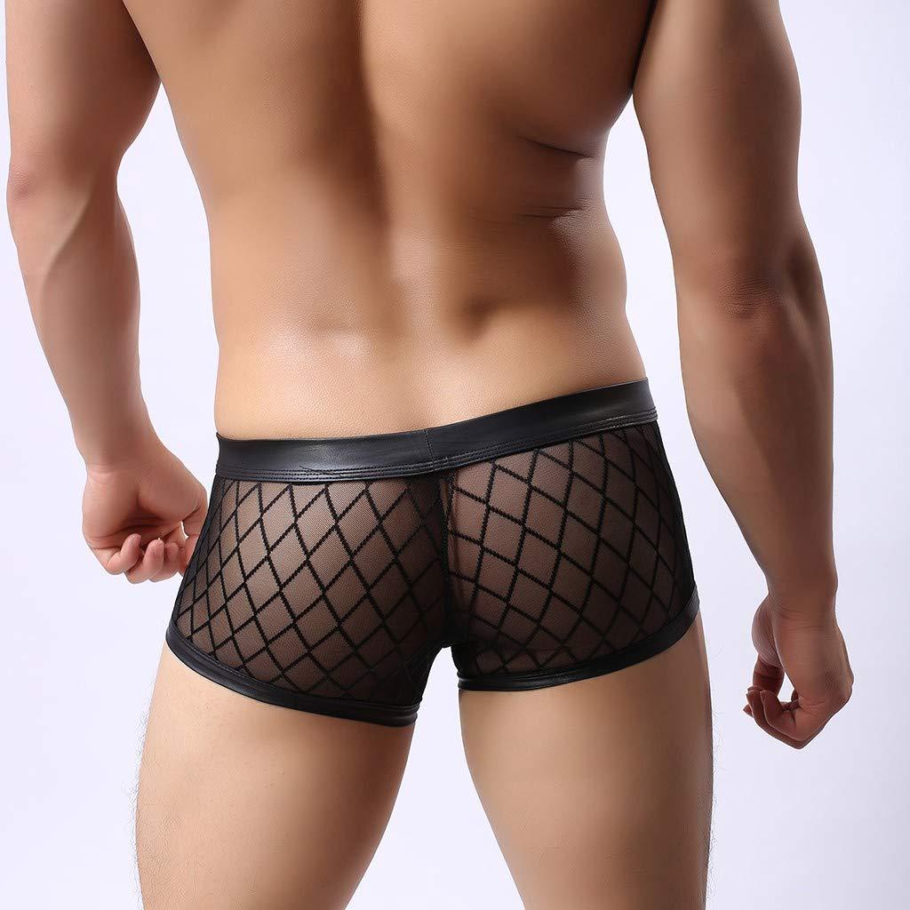 YULINGSTYLE Mens Stripes Transparent Lingerie Underwear Sports Flat Angle Neue Art der M/änner reizvolle Breathable Ineinander greifen-Unterw/äsche Bequeme gro/ße Unterw/äscheMens Mini Briefs
