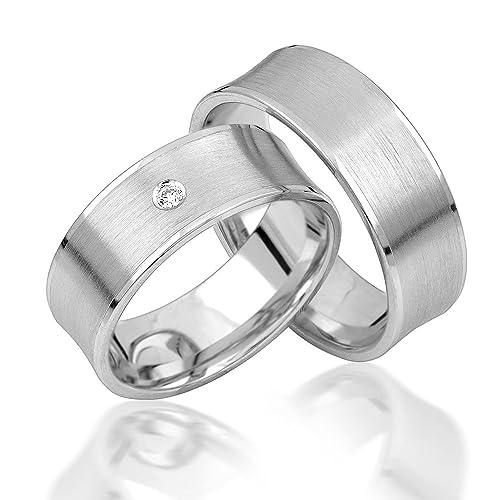 alianzas alianzas de anillos de compromiso Amistad Anillos Plata de ley 925 * Incluye Funda y piedras *: Amazon.es: Joyería