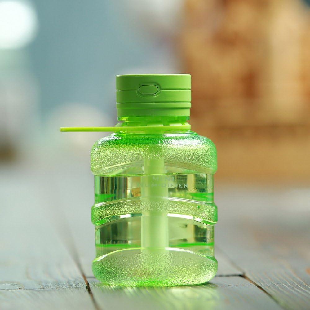 Humidificador de aire casa, lhwy atomizador de Depurador de purificador difusor de aire de humidificador de la casa aroma LED de Mini, cubo, silencioso talla única verde: Amazon.es: Hogar