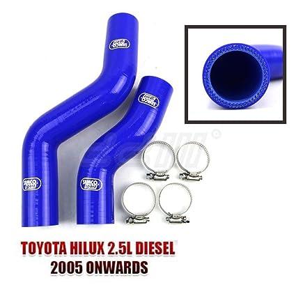 Amazon.com: Radiator Silicon Hose Kit Toyota Hilux Vigo 25 Series 2005-2014 Turbo 2.5L Diesel: Automotive