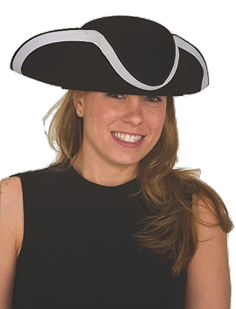 Amazon.com  JHats Tricorn Three-Cornered Hat Adult Black Wool Felt L XL   Clothing 5d6e705cebd6