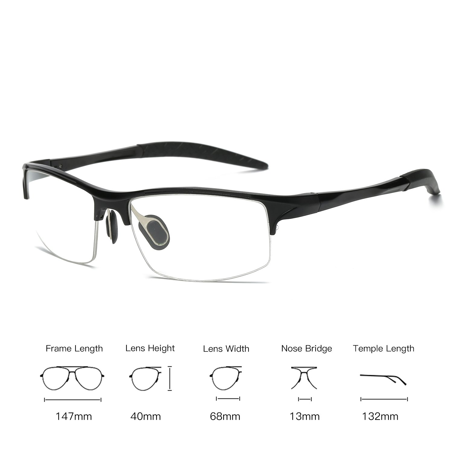 30af3266bb Amazon.com  Galulas Professional Blue Light Blocking Glasses for Men Women  Non Prescription Clear Lens Anti Glare UV Protection Eye Strain Reducing  Computer ...