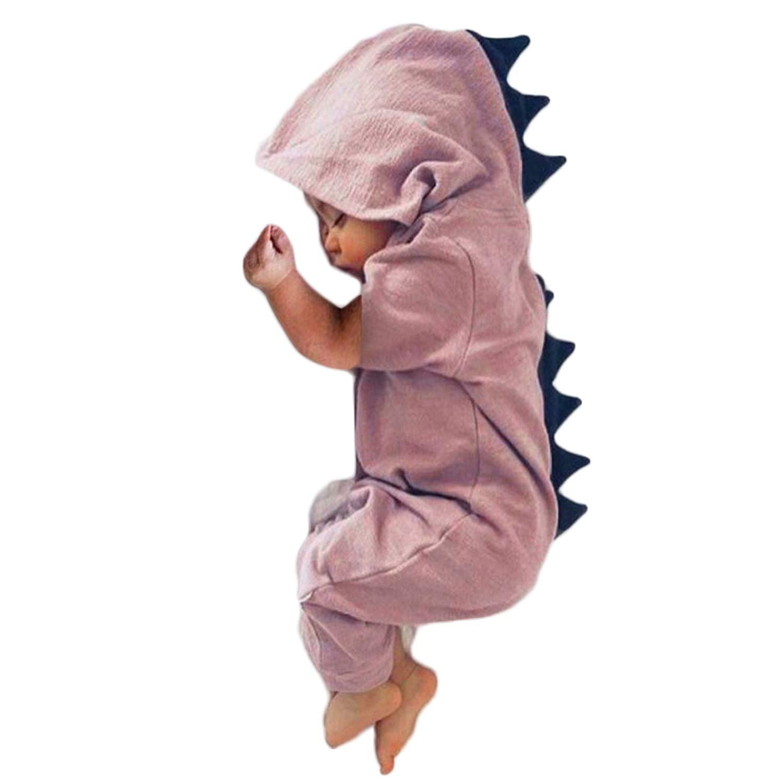 docotor akio Infant Baby Boys Girls Dinosaur Hooded Romper Bodysuit Onesies Outfits