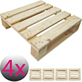 4x Einweg-Palette 50 x 50 cm perfekt für eigene Palettenmöbel Gartenmöbel Europalette Palettensitz ideal für Stuhl Hocker Kommode Beistelltisch