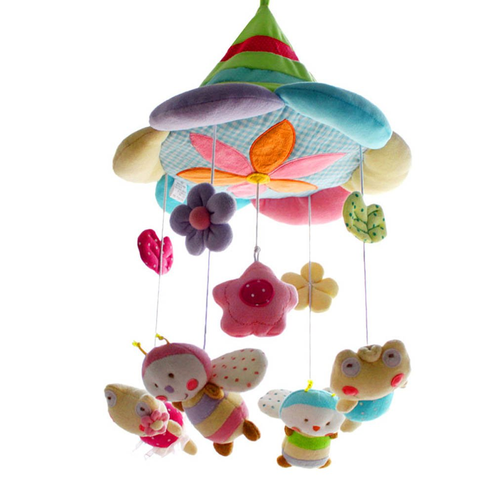 SHILOH Baby Newborn Crib Mobile Plush Canopy Toys without musical box or arm-B, Forest