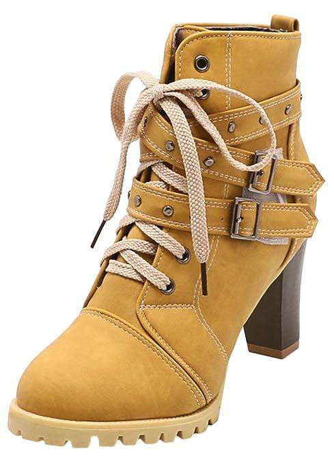 Scothen Botines Zapatos de Mujer Botines de tacón Alto Botines de tacón de Aguja Botines Martin