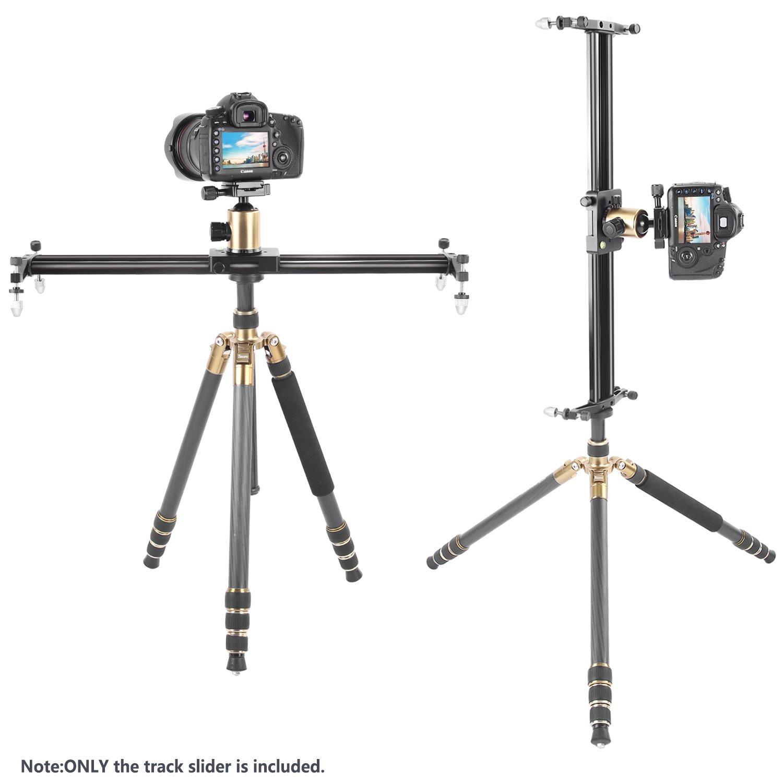 Carga hasta 5 kilogramos Neewer 60 cent/ímetros C/ámara de Aleaci/ón de Aluminio Carril Deslizante Video Estabilizador de Riel para C/ámara DSLR Videoc/ámara Video DV Fotograf/ía de Pel/ícula