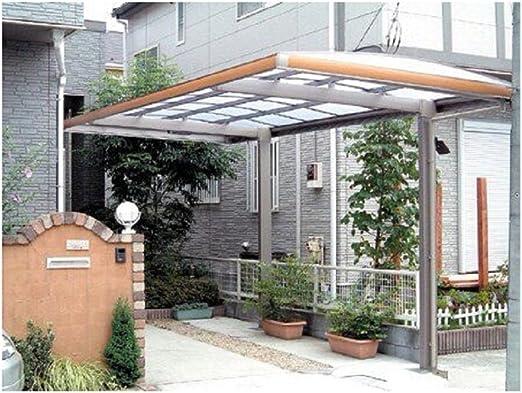 10 x 18 Metal Carport – Pérgola aluminio Cubiertas Durable con canalón metal Vehículo refugio RV Carport garaje de Metal para Coche, Yacht y Copter, también es el lujo para Patio: Amazon.es: