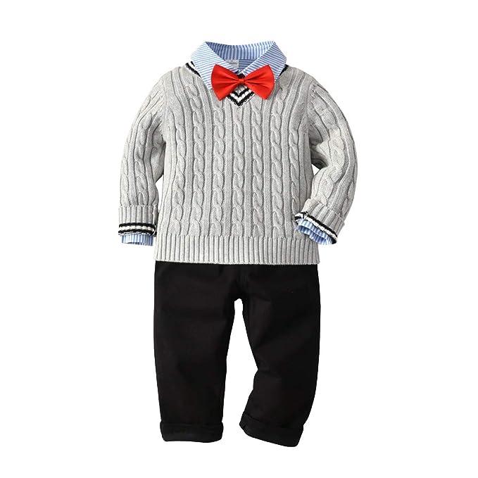 Laplbeke ropa bebe niño otoño invierno conjunto de ropa para bebé niños de  caballeros trajes jpg bba96736193