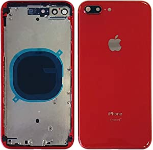Back Housing Assembly Metal Frame w/Back Glass(OEM) - Camera Frame and Lens for iPhone 8 Plus (Red)