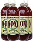 Raw Unpasteurized Fermented 100% Pure Noni Juice Direct From Maui, Hawaii - 32oz - (4 Bottles)