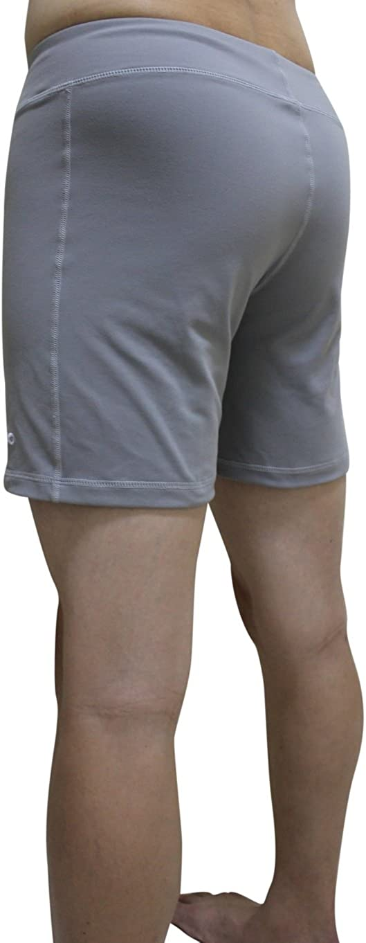 Ideal for Any Yoga Style and Pilates Gym YogaAddict Men Yoga Stretchable Short Pant Quick Dry Premium Quality Light Grey Size M