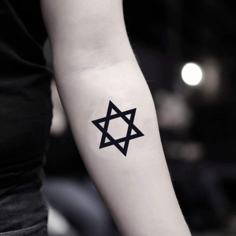 Tatuaje Temporal de Estrella de David (2 Piezas) - www.ohmytat.com ...