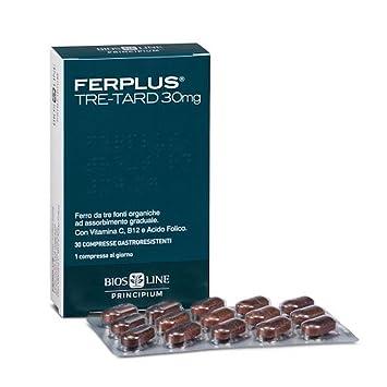 BiosLine Principium Ferro Tre Retard Integratore Alimentare Senza Glutine 30 Compresse