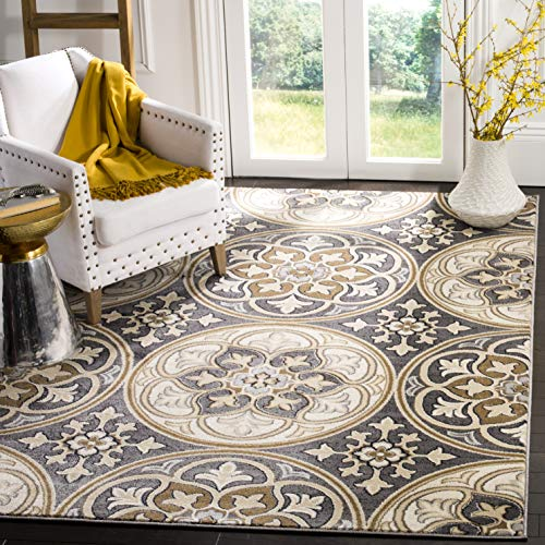 Safavieh Lyndhurst Collection LNH341B Light Grey and Beige Area Rug, 4 x 6
