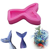 HENGSONG 3D Mermaid Tail Silicone Fondant Chocolate Mould Cake Decor Icing Sugarcraft Mold Baking Tools (L)