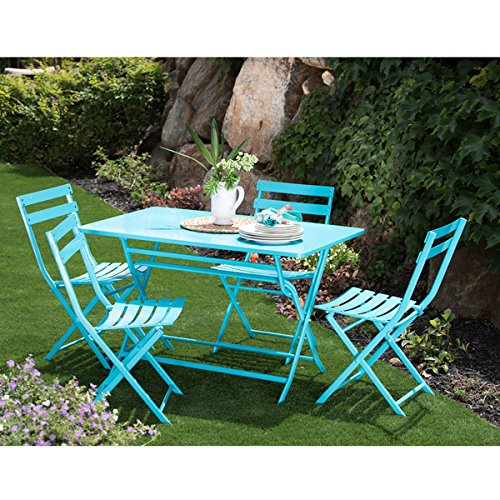 5 outdoor patio furniture table and chairs corvus