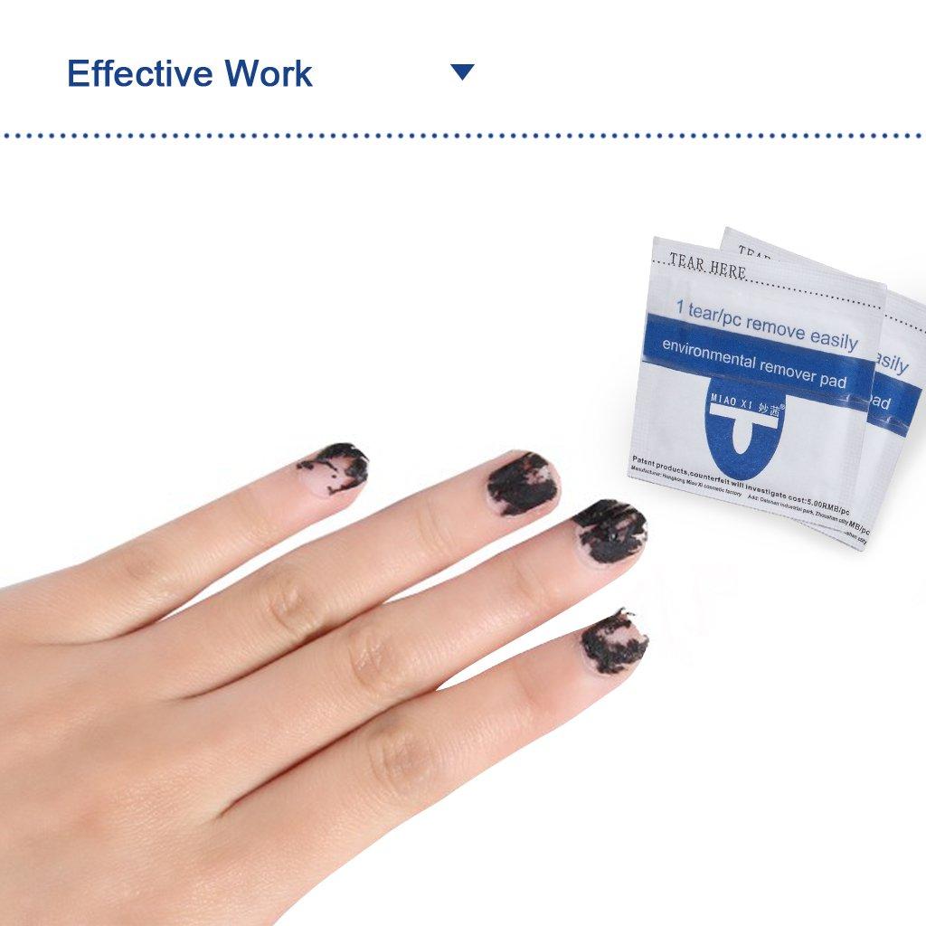 El removedor de esmalte de uñas envuelve, rápido y suave empapa el barniz de uñas de gel UV acrílico, almohadillas de aluminio con W / acetona, ...