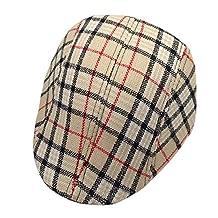YLTkids Child Baby Flat Cap Hat Newsboy Ascot Peaked Plaid Berets