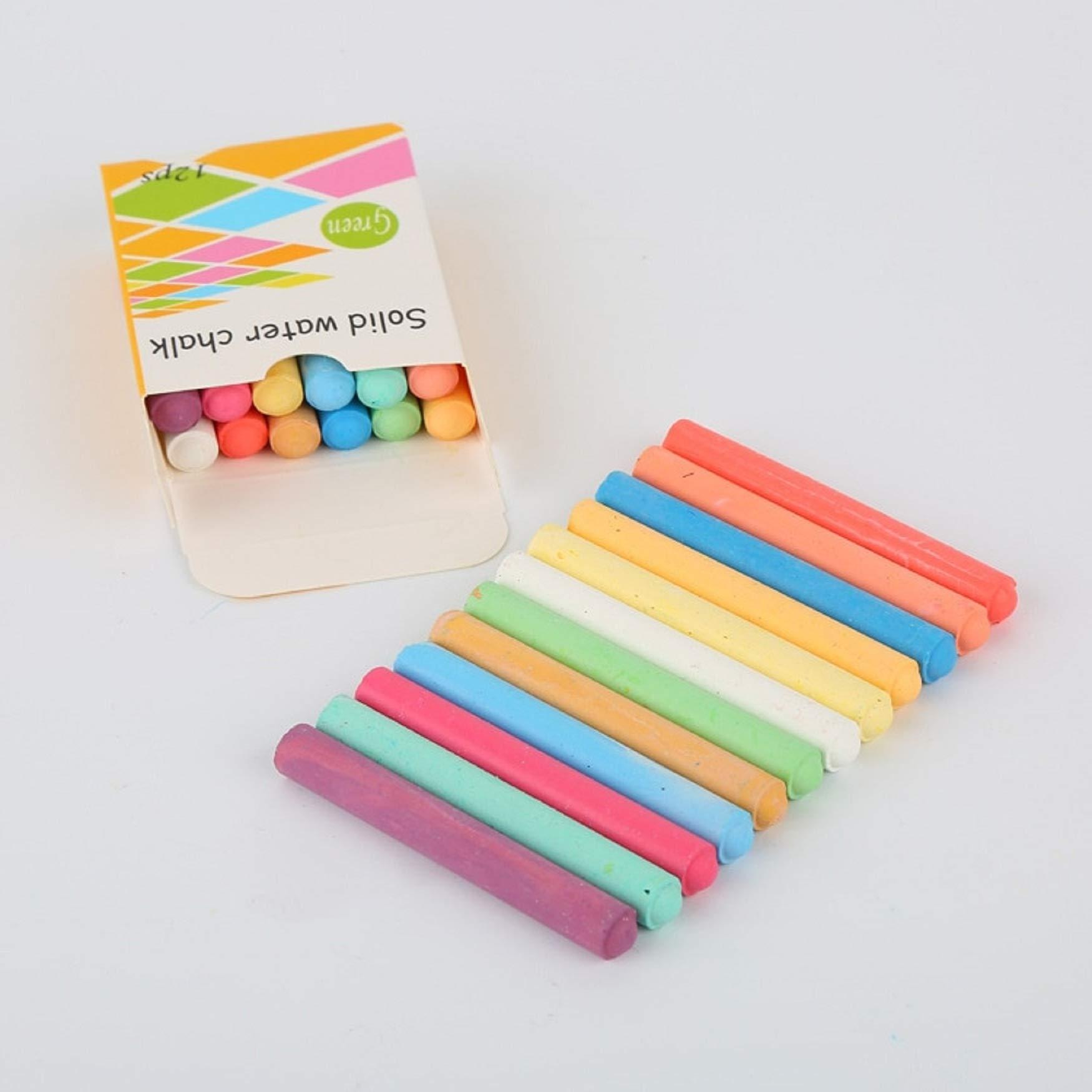 12pcs Dustless Chalk Pen Children 6 Colors Drawing Chalks Marker For Kids Graffiti Pen Gift Teacher Chalkboard Blackboard 19E1