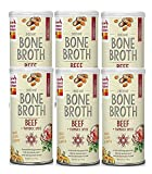 The Honest Kitchen Beef Bone Broth: Natural Human Grade Functional Liquid Treat with Turmeric Spice for Dogs & Cats, 5 oz (pack of 6)