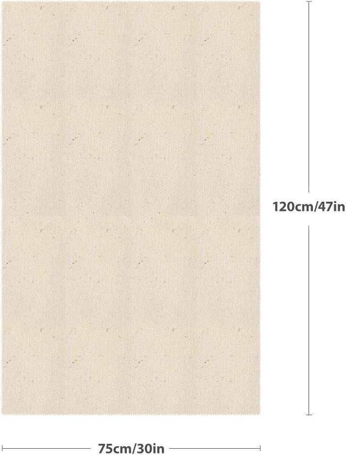120 X 75 Cm Panecillos Sof/á para Hornear De Lino,AIEVE Professional Bakers Couche Pa/ño De Prueba De Lino para Hacer Fermentaciones De Masa De Pan Franc/és Pan Y Pan