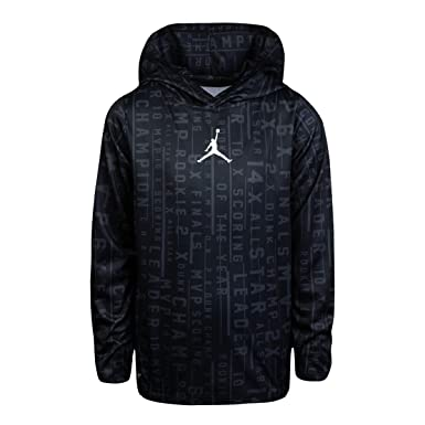 c027cb7b9451 Jordan Air Youth Boys  Dri Fit Accolades All Over Print Dri-Fit Pullover  Hooded