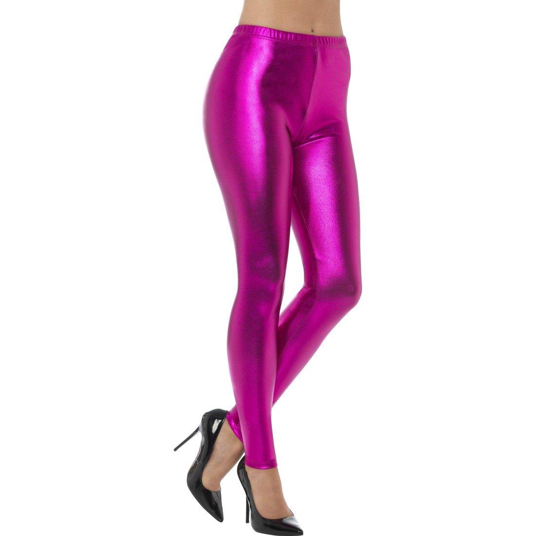 Leggings ann/ées 90 | Collant m/étallique NET TOYS Pantalon disco rose FR 36//38 Collant ann/ées 80 S