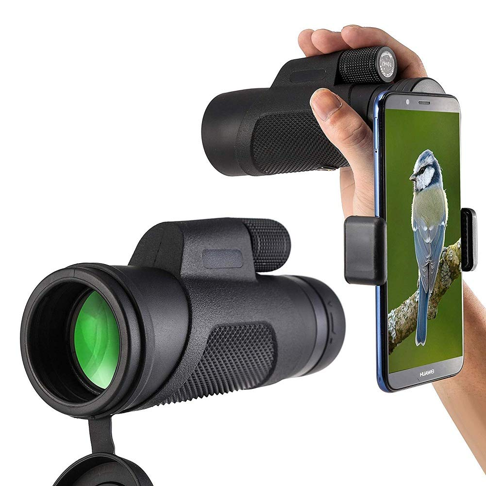 Monocular Telescope, 10X42 High-Definition Water-Proof,Fog-Proof and Shock-Proof Monocular Telescope with Smartphone Adapter and Tripod for Outdoor Bird Watching, Wildlife, Concerts, Trave (10x42)