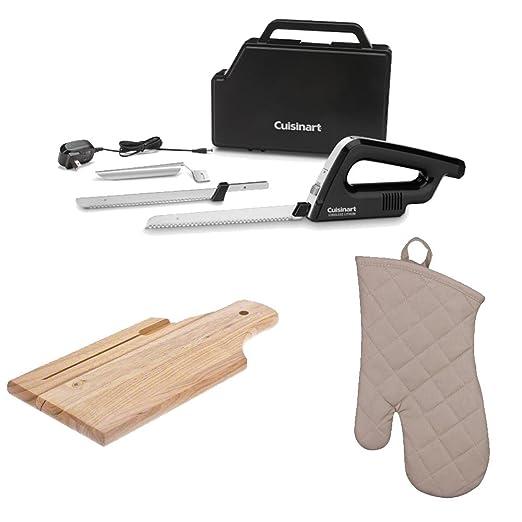 Cuisinart CEK-120 cuchillo eléctrico inalámbrico de litio + panera ...