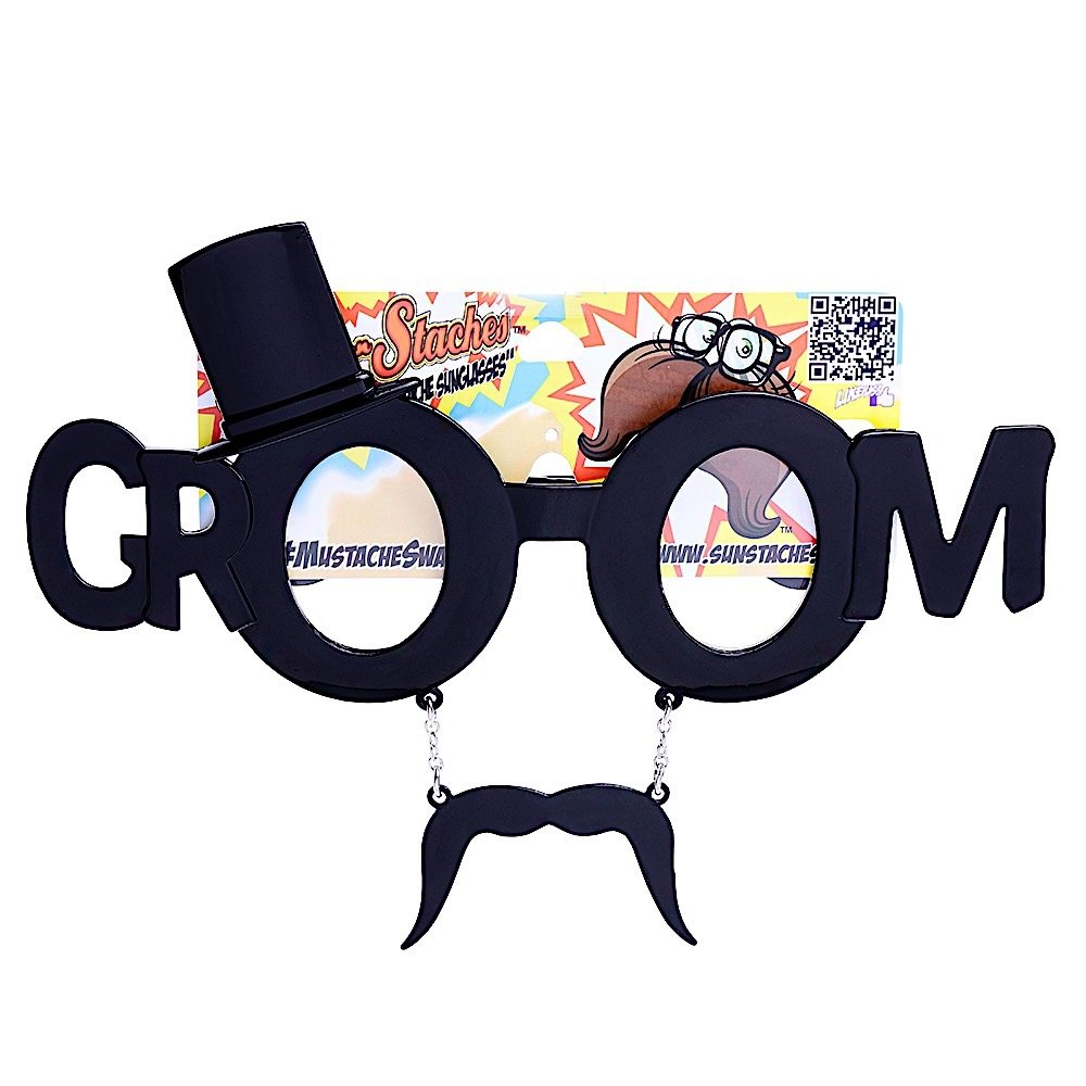 Sunstaches The Groom Sunglasses Distributed by H2W
