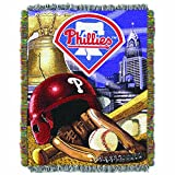 "The Northwest Company MLB Philadelphia Phillies Home Field Advantage Woven Tapestry Throw, 48"" x 60"